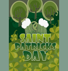 day poster design template st patrick easy vector image