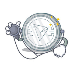 Doctor tron coin character cartoon vector