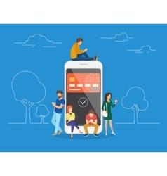 E-wallet concept vector image
