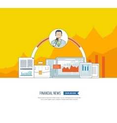 Financial news and strategy planning strategy vector