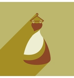 Flat web icon with long shadow wedding dress vector