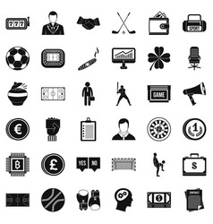 gambling icons set simple style vector image vector image