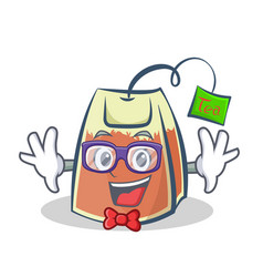 Geek tea bag character cartoon art vector