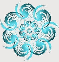 gently blue flower vector image