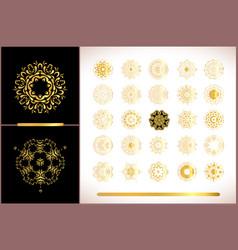 Gold mandala on white background ethnic vintage vector