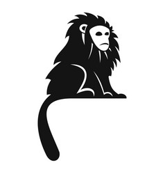 Hairy monkey icon simple style vector