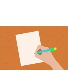 Hand writing drawing pen woman holding pencil vector