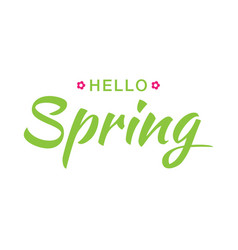hello spring banner background with paper flowers vector image vector image