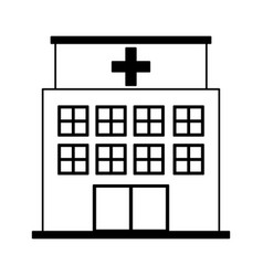 Hospital building exterior icon vector