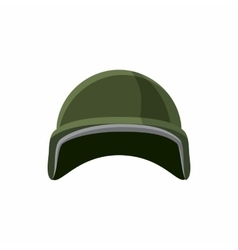 Military helmet icon cartoon style vector