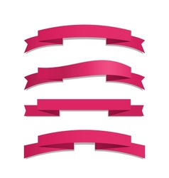 Pink Ribbon Set vector image