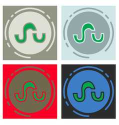 set of stumbleupon color glossy icon realistic vector image