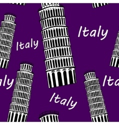 Sketch Pisa tower seamless pattern vector image vector image