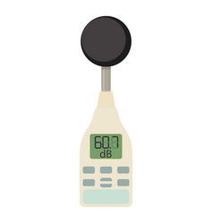 Sound level meter icon cartoon style vector