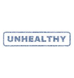 Unhealthy textile stamp vector