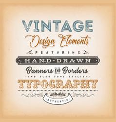 vintage label sign vector image vector image