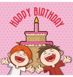 Kid boy happy birthday design vector