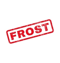 Frost text rubber stamp vector