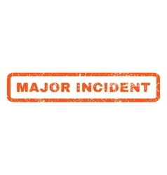 Major incident rubber stamp vector