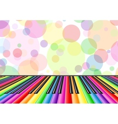 Musical background with a piano keyboard and vector