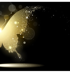 background gold butterfly vector image