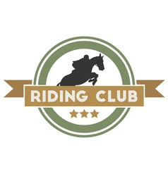 Riding club vector