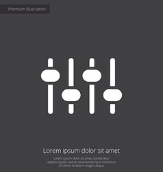 Sound mixer premium icon vector