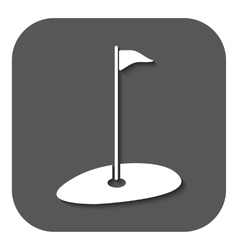 The golf icon sport symbol flat vector