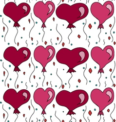 Seamless pattern with balls in the form of hearts vector