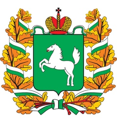 Tomsknbig Oblast vector image