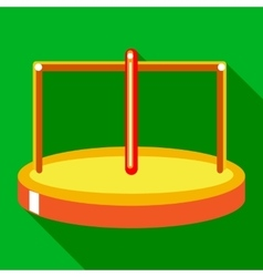 Merry go round icon flat style vector