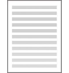a note paper for musical notes vector image