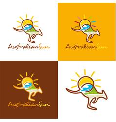 australian sun vector image vector image