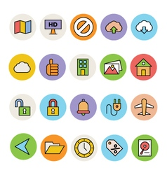 Basic colored icons 13 vector