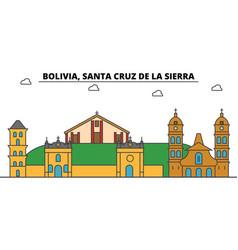 Bolivia santa cruz de la sierra outline city vector