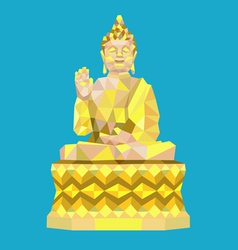 Buddha low polygon style vector