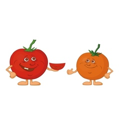 Character tomatoes friends vector image