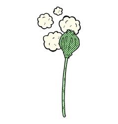 comic cartoon dried poppy vector image vector image