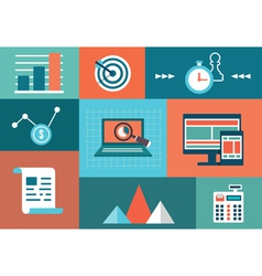 Concept of statistic and analytics information vector image vector image