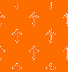 Crucifix pattern seamless vector