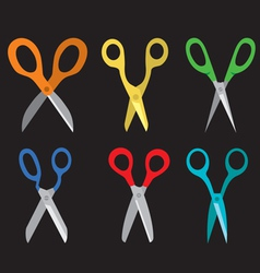 Different open scissors set style vector