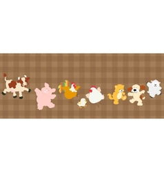 Farm critters set vector image vector image
