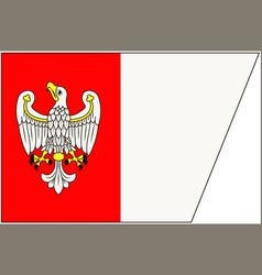 Flag of greater poland voivodeship in poland vector