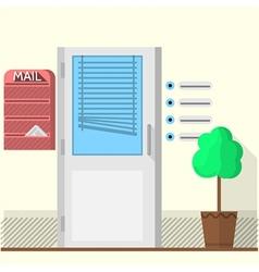 Flat of office doors vector image