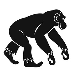 Monkey standing icon simple style vector