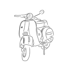 Outline of scooter vector