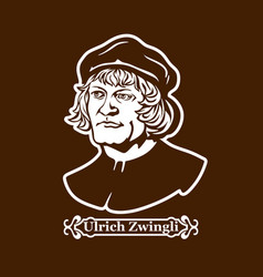 Protestantism leaders of the european reformation vector