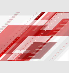 red and grey tech minimal background vector image vector image