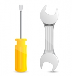 screwdriver and wrench vector image vector image