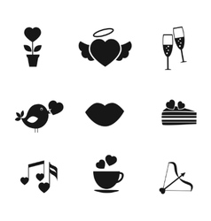 Set of love and romance icons vector